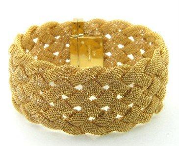 Tiffany & Co 18K Yellow Gold Woven Bracelet