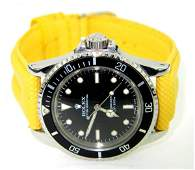 Rolex Oyster Perpetual  Leather Strap Mens Watch