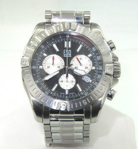 7: ESQ DateJust Stainless Steel Chronograph Watch
