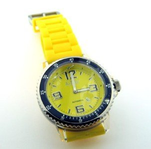 17: Ritmo Stainless Steel, Rubber Strap Automatic Watch