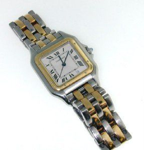 Cartier 18K Yellow gold Stainless Steel Watch