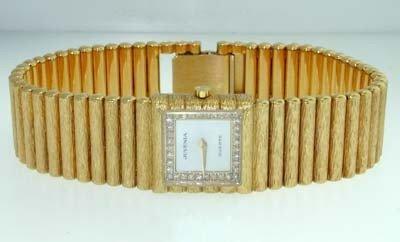194: Juvenia 18K Yellow Gold, Diamond Watch.