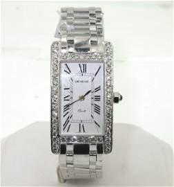 303: Geneve 18K White Gold Diamond Watch