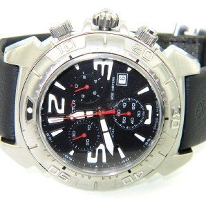 Sector Stainless Steel Chronograph Leather Strap Watch