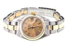 458: Rolex 18K Gold / Stainless Steel Datejust Ladies W