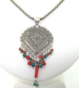 Silver Coral  Necklace