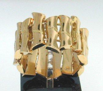 Gucci 18K Yellow Gold Bamboo Ring.