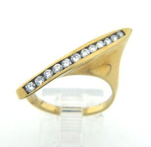 Salavetti 18K Yellow Gold, Diamond ring.