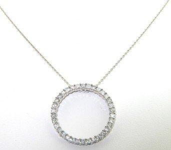 18A: 14K White Gold, Diamond Necklace