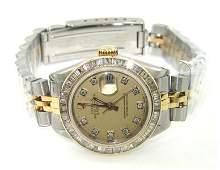 382A: Rolex 18K Gold / Stainless Steel Diamond Ladies W