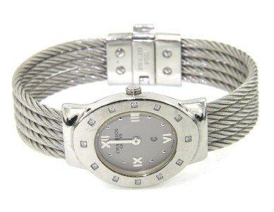 5: Charriol Stainless Steel Diamond Bangle Watch
