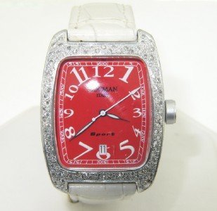 8: Locman Italy Aluminium Diamond, Leather Strap watch