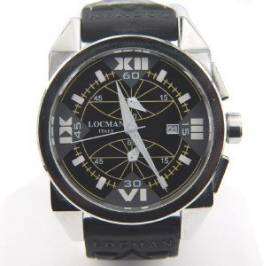 16: Locman Italy Stainless Steel Rubber Strap Watch
