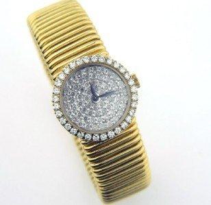 19: Piaget 18K Yellow Gold, Diamond Watch