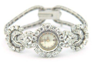 175: Van Cleef & Arpels 18K White Gold, Diamond Watch