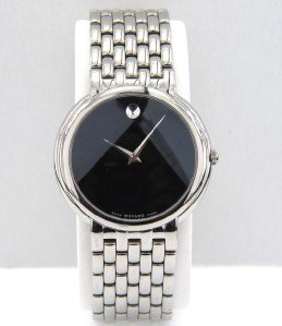 4: Movado  Stainless Steel Quartz Watch.