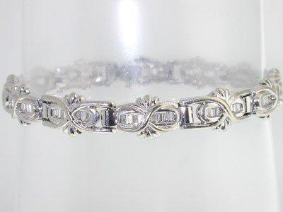 1: 14k White Gold Diamond Bracelet