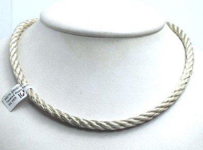 9: Slane & Slane Silver Twisted Rope Necklace