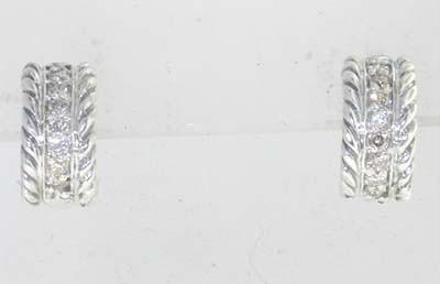 17: David Yurman silver, Diamond Earrings