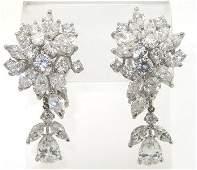 317: Platinum Diamond Earrings From 1920