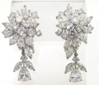 Platinum Diamond Earrings From 1920