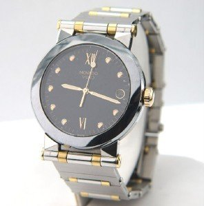 22A: Movado 2-Tone Stainless Steel DateJust Watch