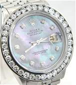 361A: Rolex Steinless Steel Diamond Chronometer Mens Wa