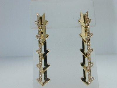 6: Enigma 18K Yellow Gold Diamond Earrings.