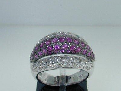 7: 14k Two-Tone Gold Ruby & Diamond Ring.