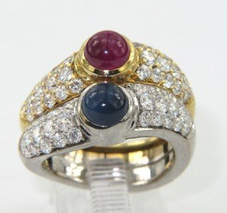 258: Van Cleef & Arpels 18K Gold Diamond, Ruby,Sapphire