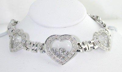 3: 18K White Gold, Diamond Bracelet