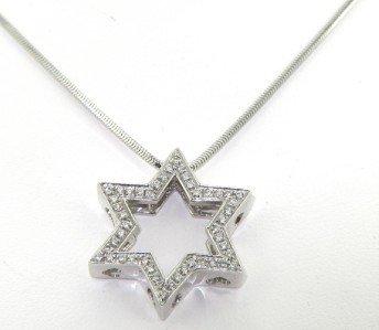 7A: Barbero & Ricci 18K White Gold, Diamond Necklace