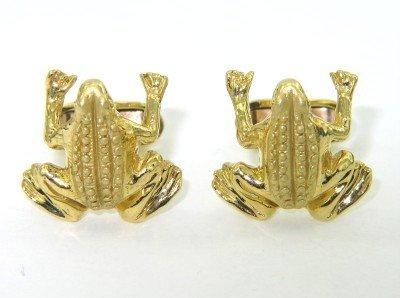 8A: 18K Yellow Gold, Forg Cufflinks