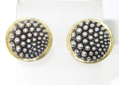 13A: Lagos 18K Yellow Gold/Silver Earrings