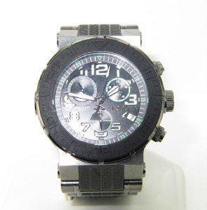 7A: Invicta Stainless Steel / Rubber Chronograph Watch