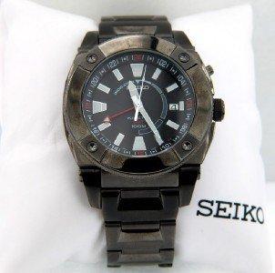 16: Seiko DateJust Stainless Steel Skeleton Watch