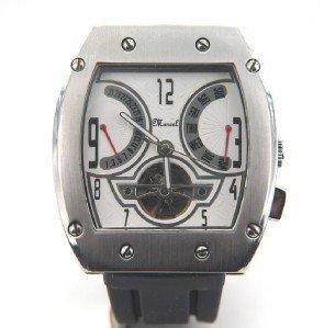 17: Marcel Drucker Stainless Steel  Rubber Strap Watch