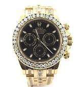 231: Rolex Daytona18K Gold Diamond Chronometer Mens Wat