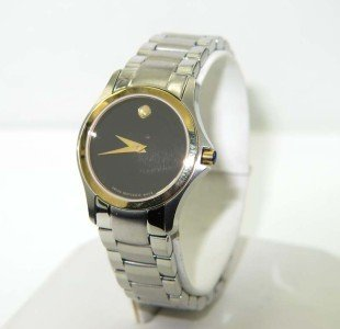 10: Movado Stainless Steel & Gold Plated Watch