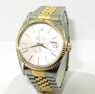 18: Rolex 18K Yellow Gold Stainless Steel  Watch