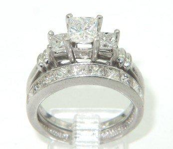 480: 480: Platinum Diamond Lady's Wedding Ring Set