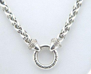 6: David Yurman Silver & Diamond Necklace