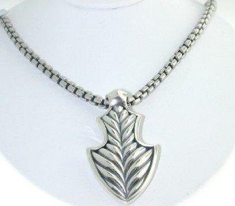 14: David Yurman  Silver Necklace