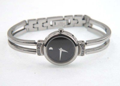 3: Movado Stainless Steel Diamonds Watch