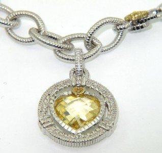 9: Judith Ripka 18K Gold / Silver, Citrine Bracelet - 2