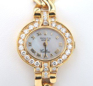 347A: Rolex Cellini 18K Yellow Gold  Diamond Watch
