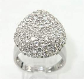2A: 2A: Salavetti 18K White Gold Diamond Ring