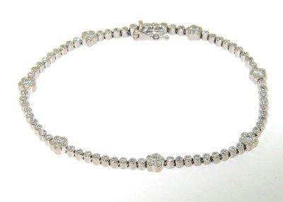 6: 6: 18K White Gold Diamond Bracelet