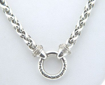 17: David Yurman Silver & Diamond Necklace