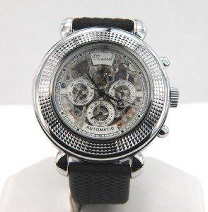 8: 8: Marcel Drucker Stainless Steel Rubber Strap Watch